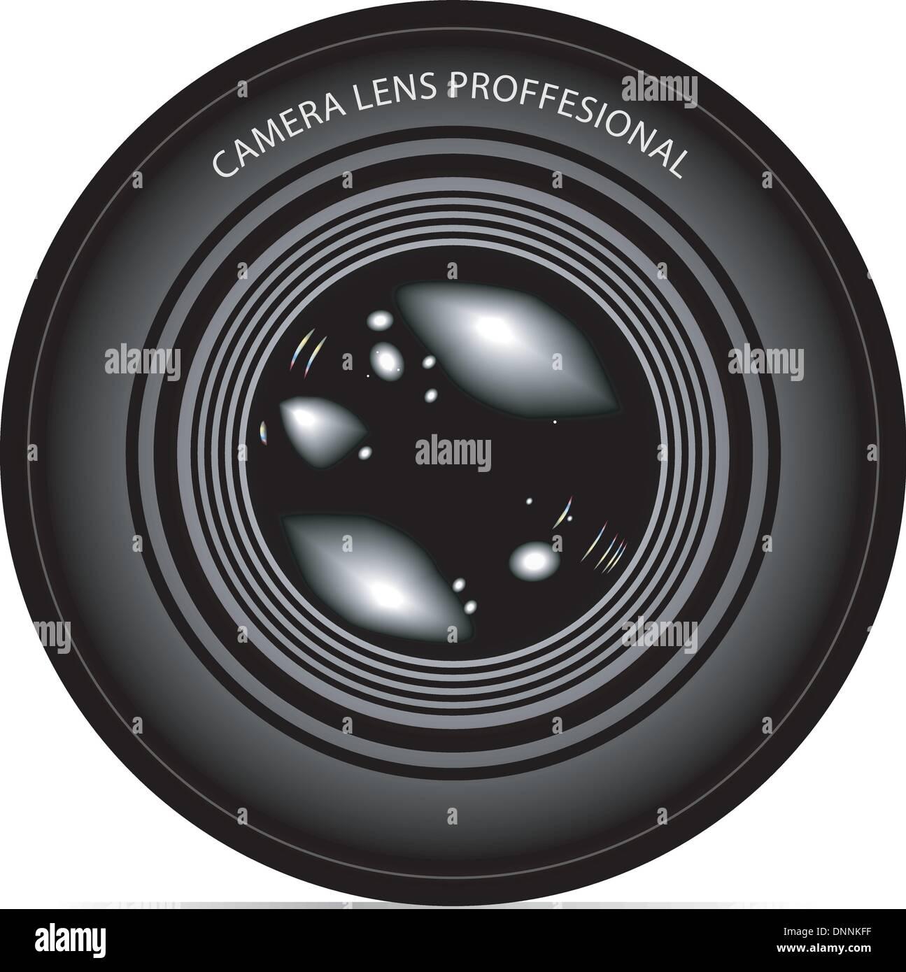camera lens vector illustration Stock Vector