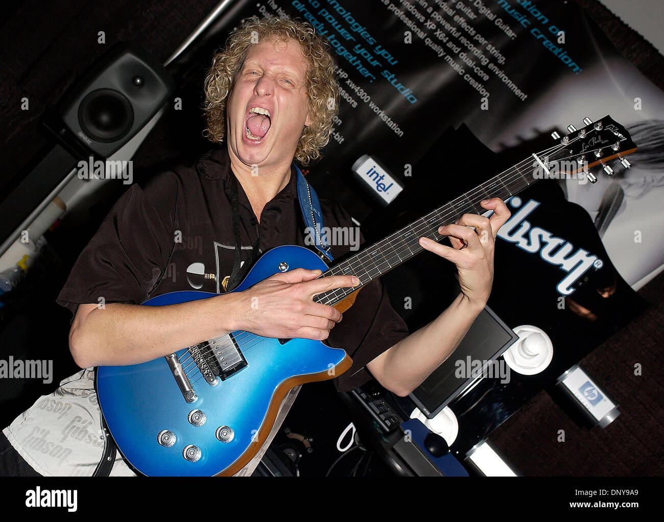 january 19 2006 anaheim ca usa musician bart walsh at the gibson stock photo royalty free. Black Bedroom Furniture Sets. Home Design Ideas