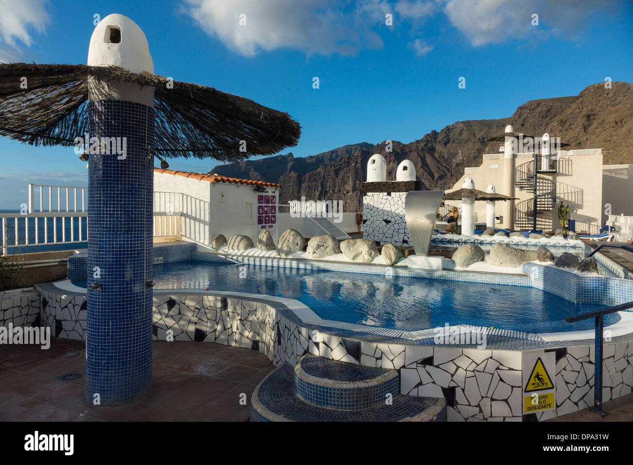 Tenerife, Canary Islands - rooftop swimming pool of Vigilia Park Stock Photo, Royalty Free Image ...