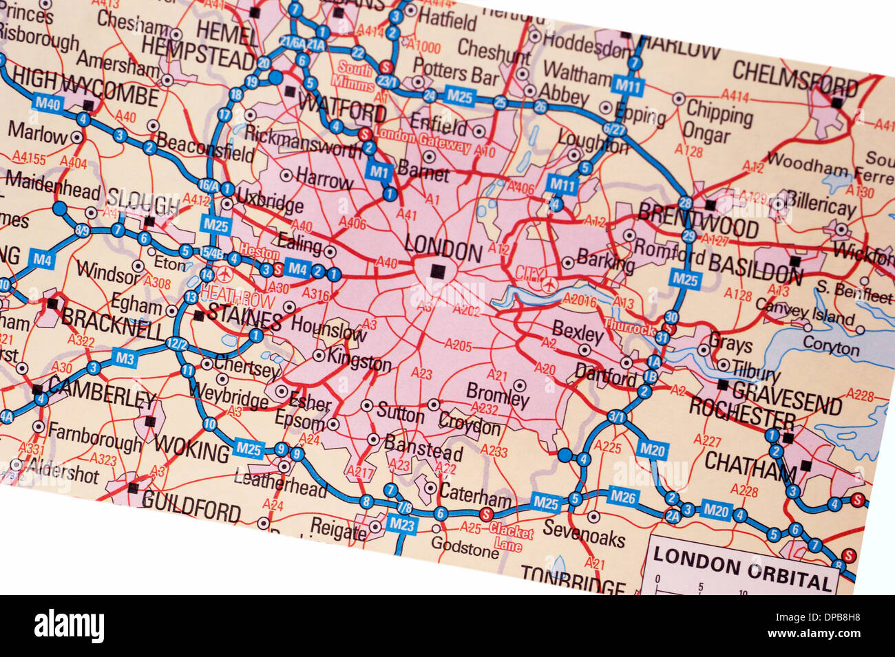 Old Fashioned Road Maps