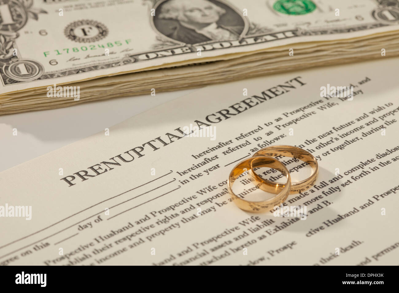 Prenuptial Agreement Stock Royalty Free Image