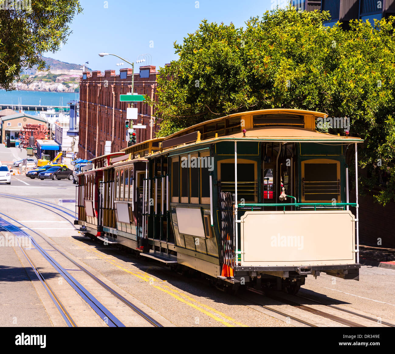 San Francisco Hyde Street Cable Car Tram Of The Powell