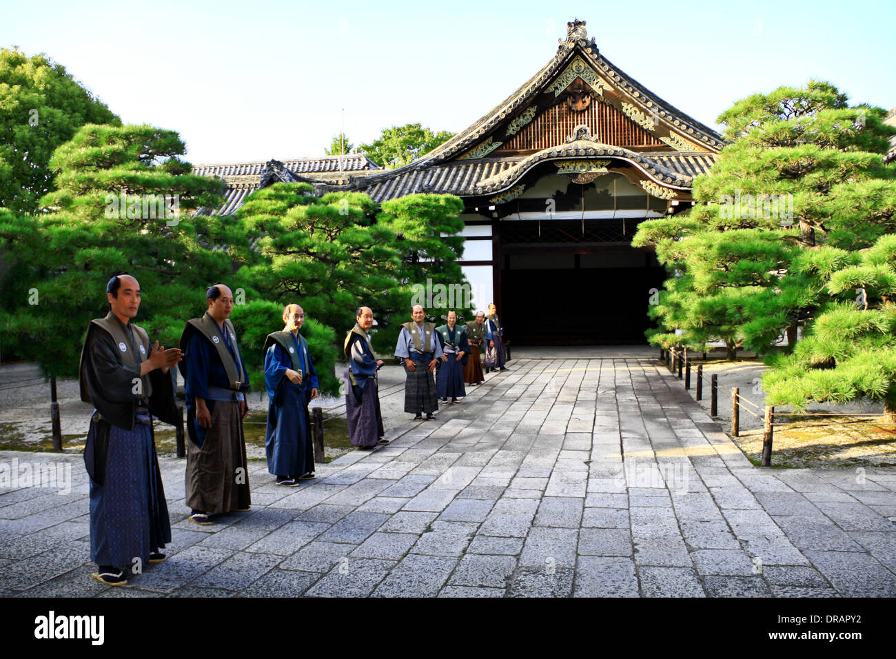 A Samurai setting and atmosphere at Nishi Honganji temple, Kyoto Stock Photo,...