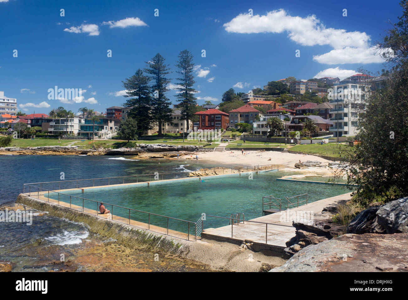 Fairlight Berach With Rock Pool Swimming Pool In Foreground Manly Stock Photo Royalty Free
