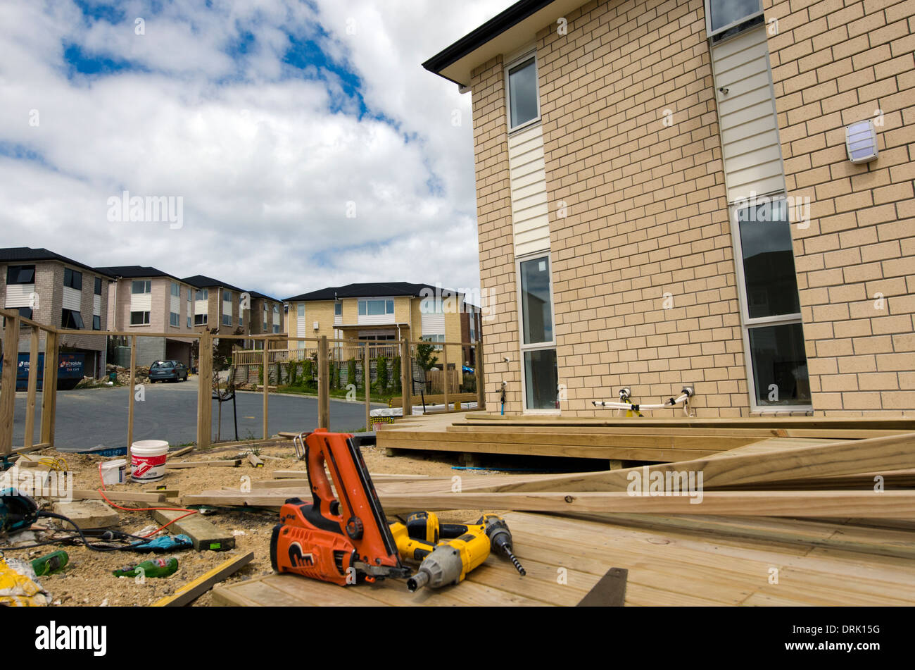 Working tools in new homes building site in auckland new for House building website