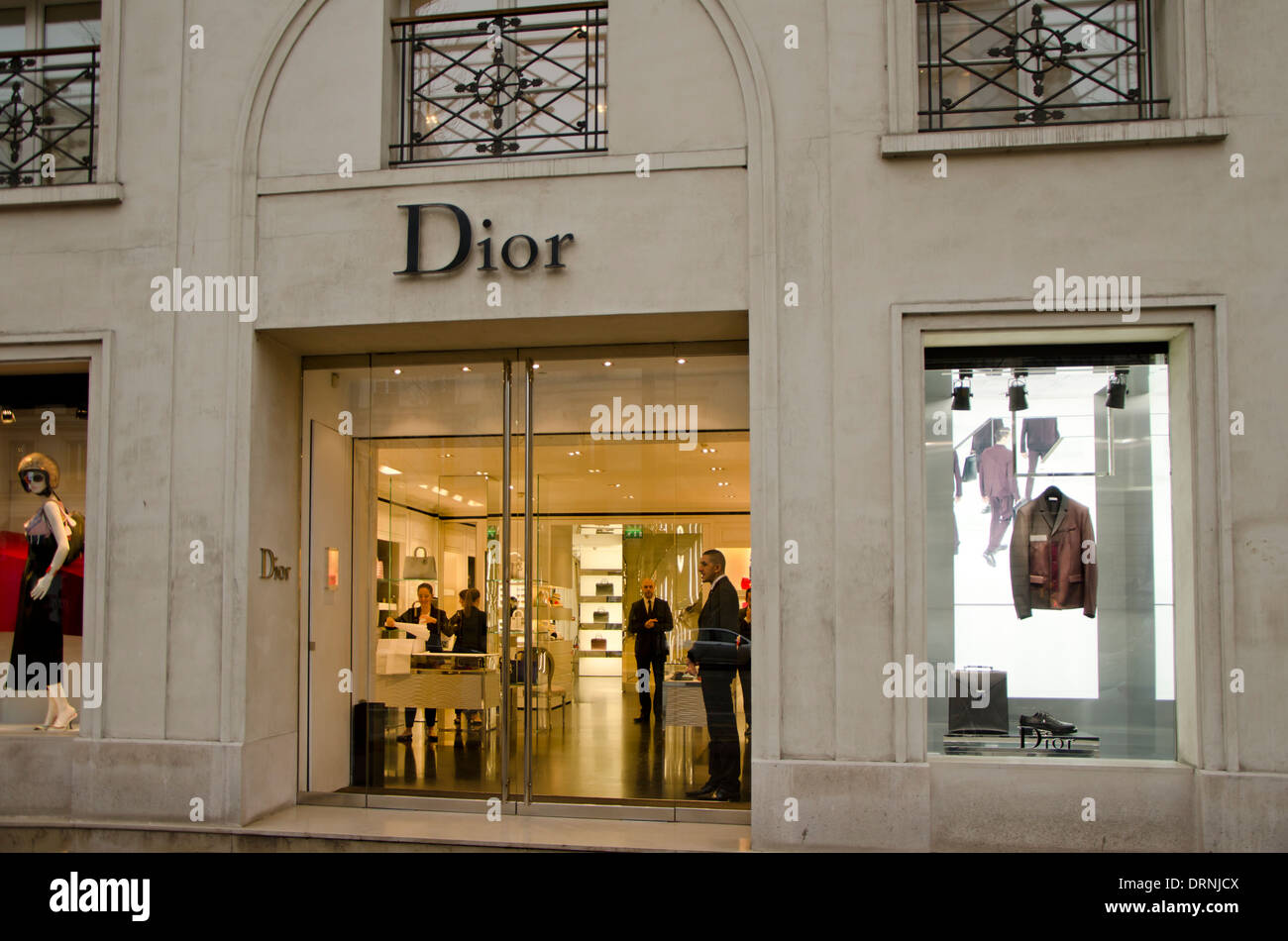 facade of a christian dior fashion store shop in paris france stock photo royalty free image. Black Bedroom Furniture Sets. Home Design Ideas