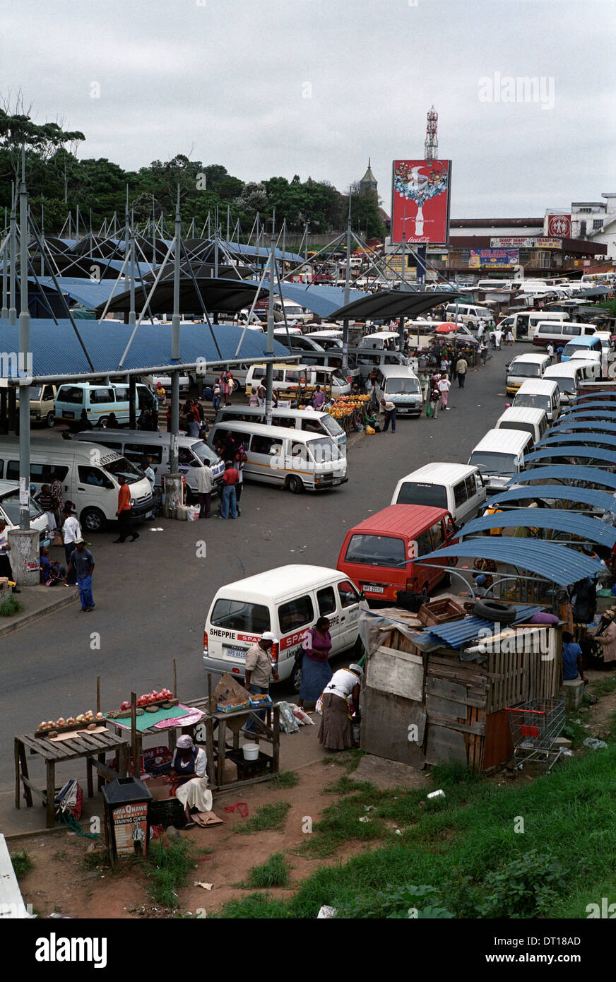 Port Shepstone Taxi Rank. Urban and rural development and infrastructure in the Ugi region of KwaZulu-Natal South Stock Photo