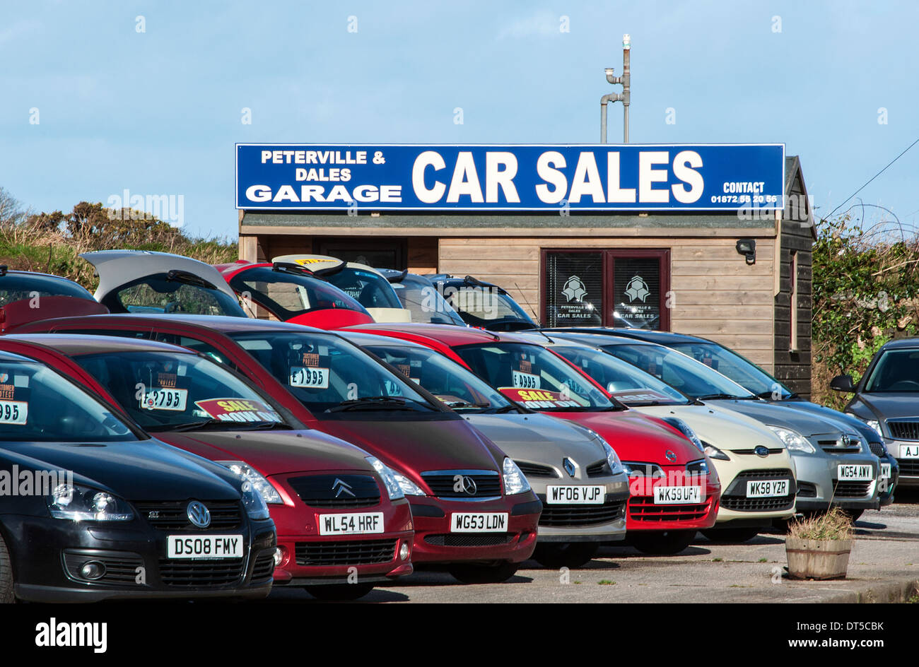 Second Hand Car Sales Lot Stock Photo Royalty Free Image