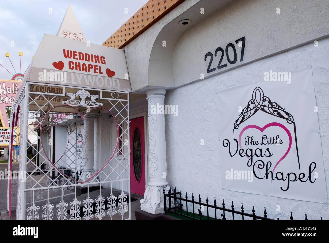 Little vegas wedding chapel las vegas nevada usa stock for Little las vegas