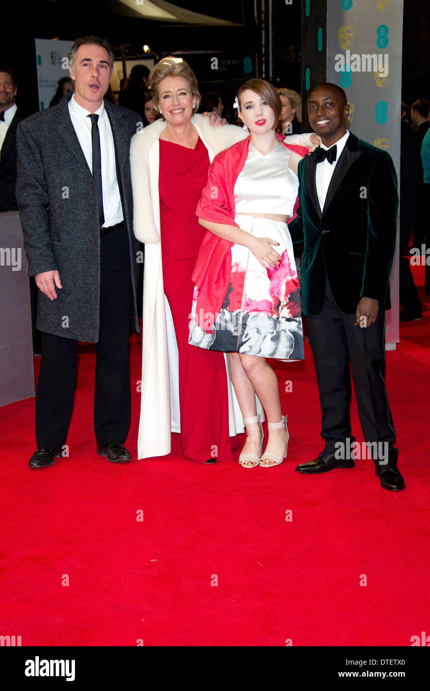 Greg Wise L R Emma Thompson Gaia Wise And Tindyebwa