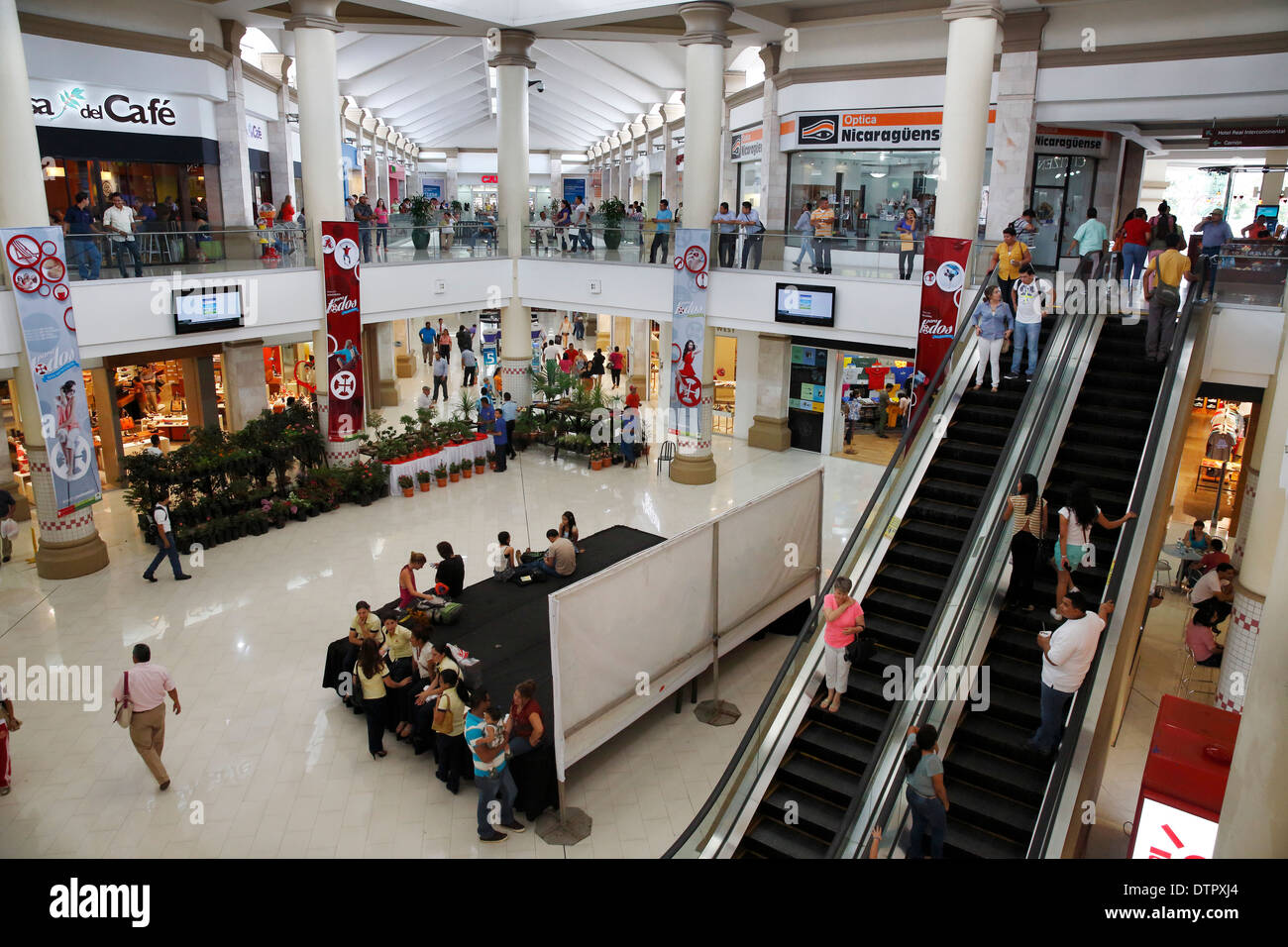Metrocentro shopping mall, Managua Nicaragua Stock Photo
