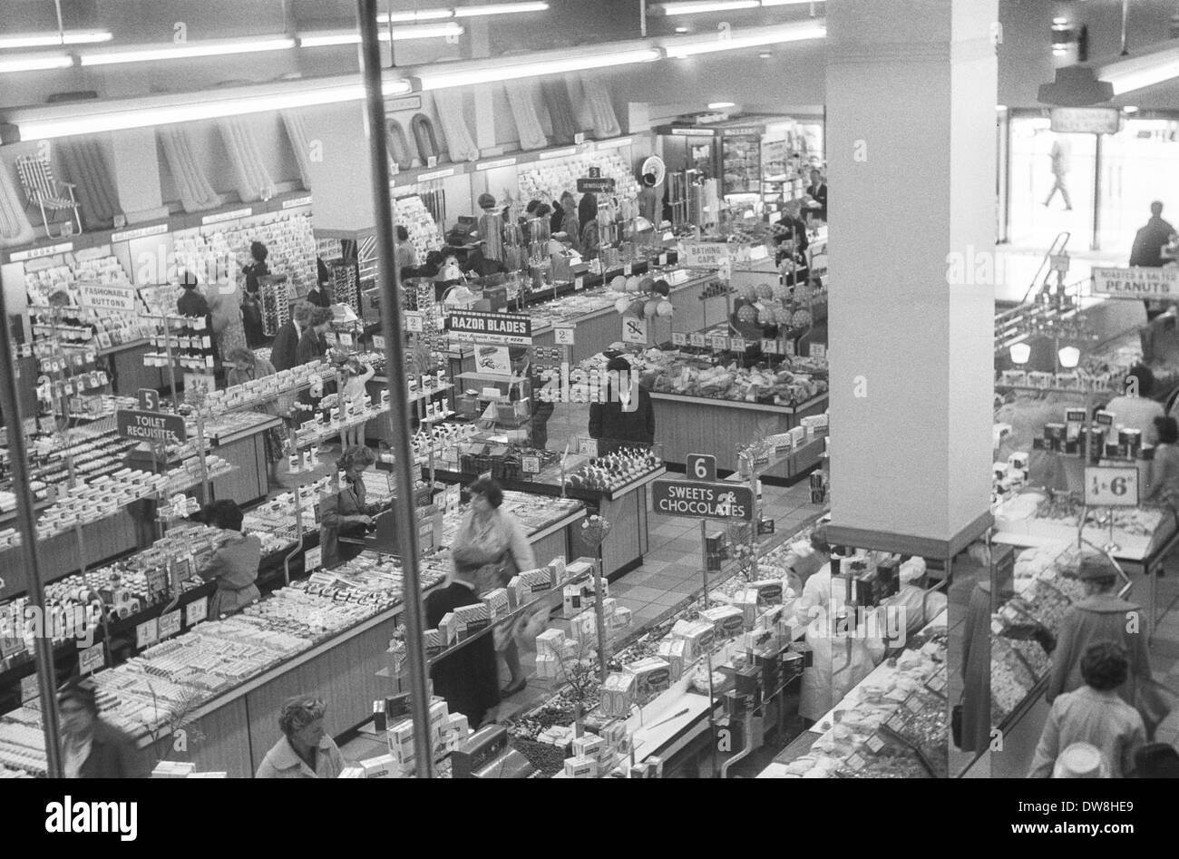 photo inside a woolworths store during the 1960 39 s cardiff england