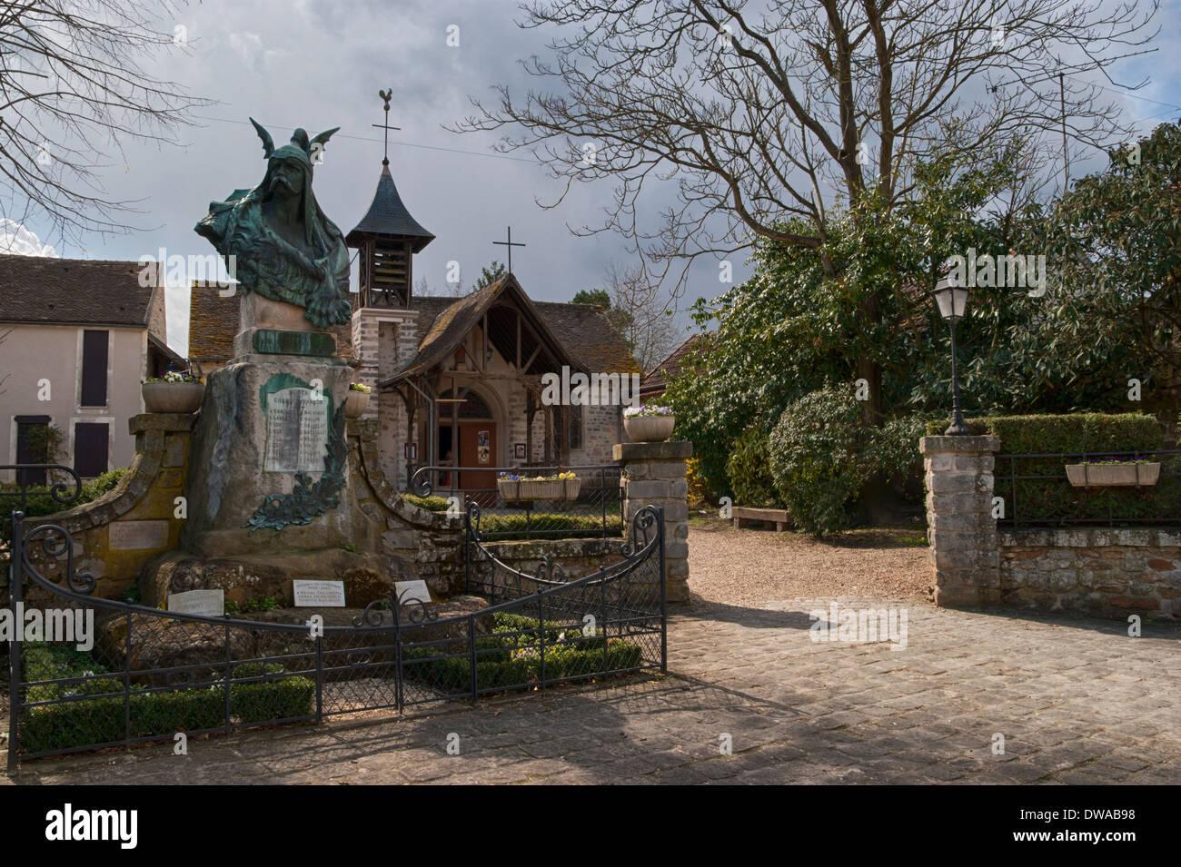 Barbizon France  city images : War Memorial At Barbizon, France. The 3 Symbols Of France Stock Photo ...