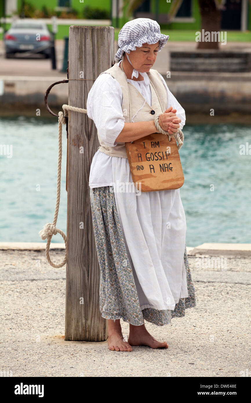 Actor In A Historical Reenactment Of The Ducking Stool