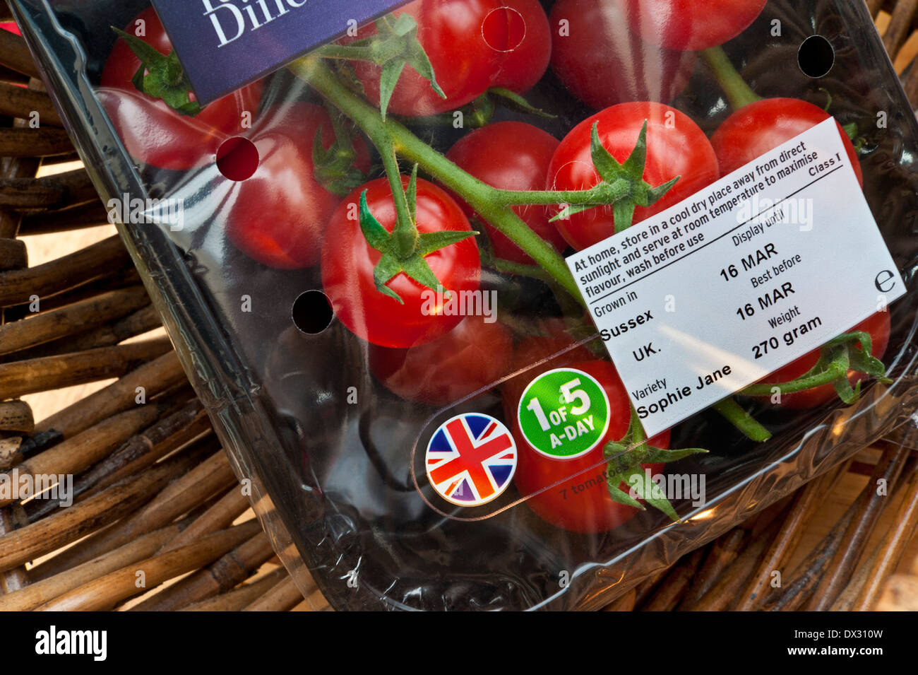 english sophie jane vine tomatoes in supermarket