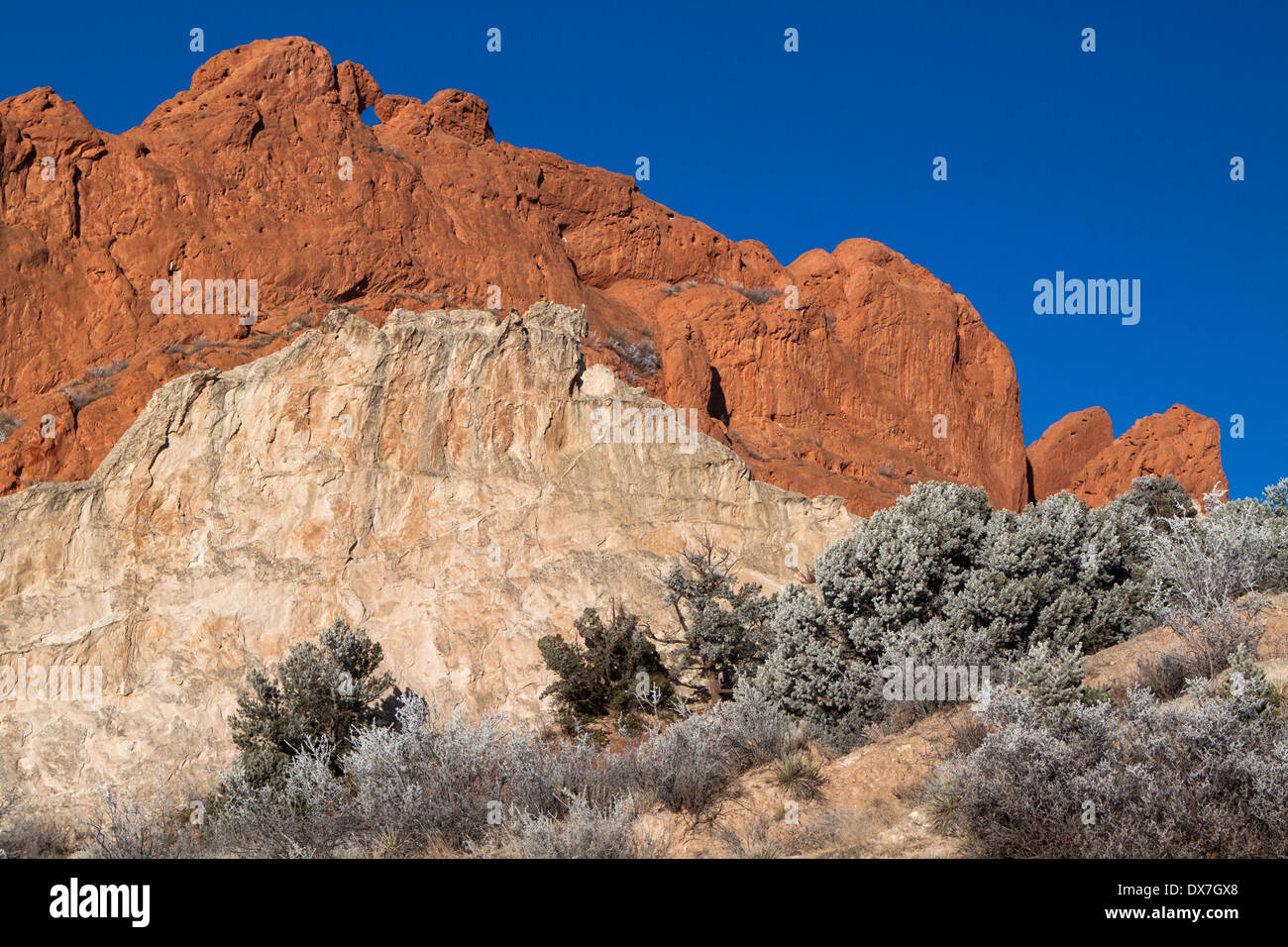 Kissing Camels And White Rock In Garden Of The Gods Park Colorado Stock Photo Royalty Free