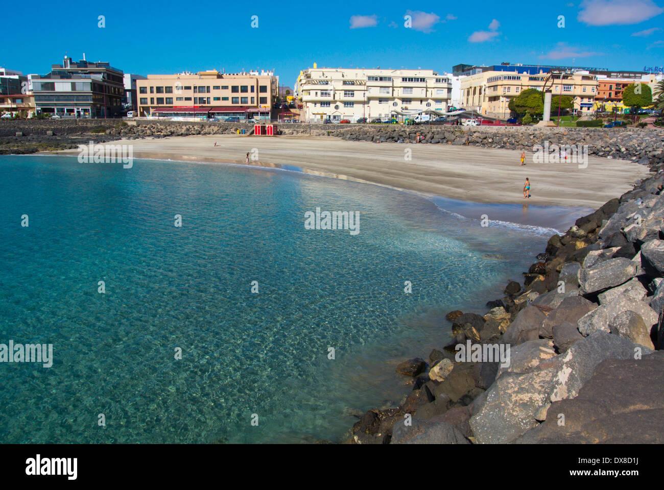 Playa chica beach puerto del rosario fuerteventura canary islands stock photo royalty free - Pension puerto del rosario ...