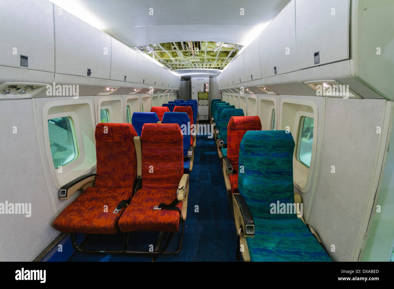 Inside Cabin Of A Shorts Sd 330 Skyvan Stock Photo