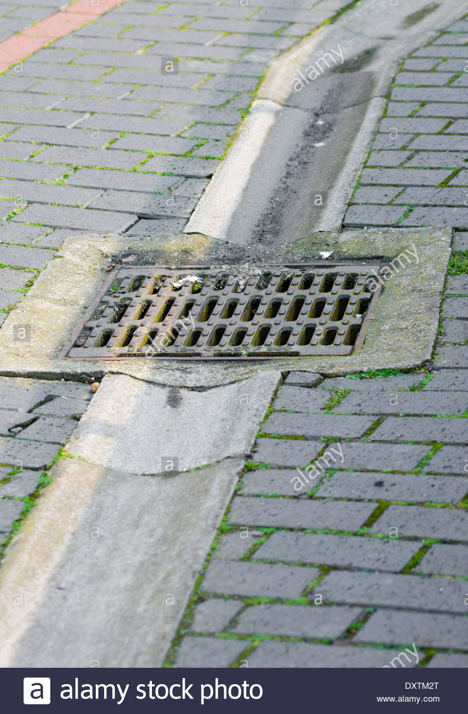 Rainwater ground gutter and drain stock photo royalty for Outdoor ground drains