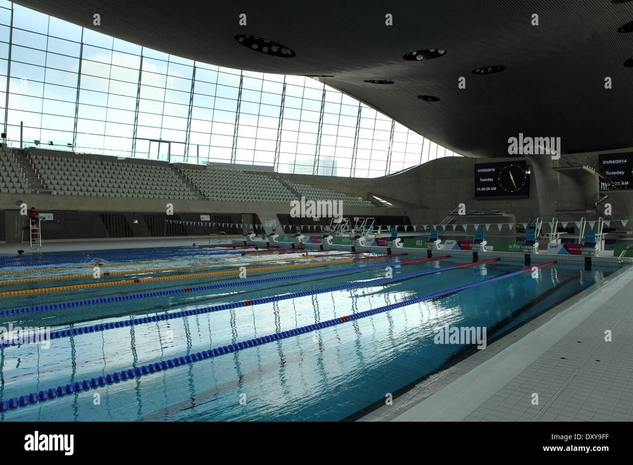 Swimming Pool At The Aquatics Centre In The Queen Elizabeth Olympic Stock Photo Royalty Free