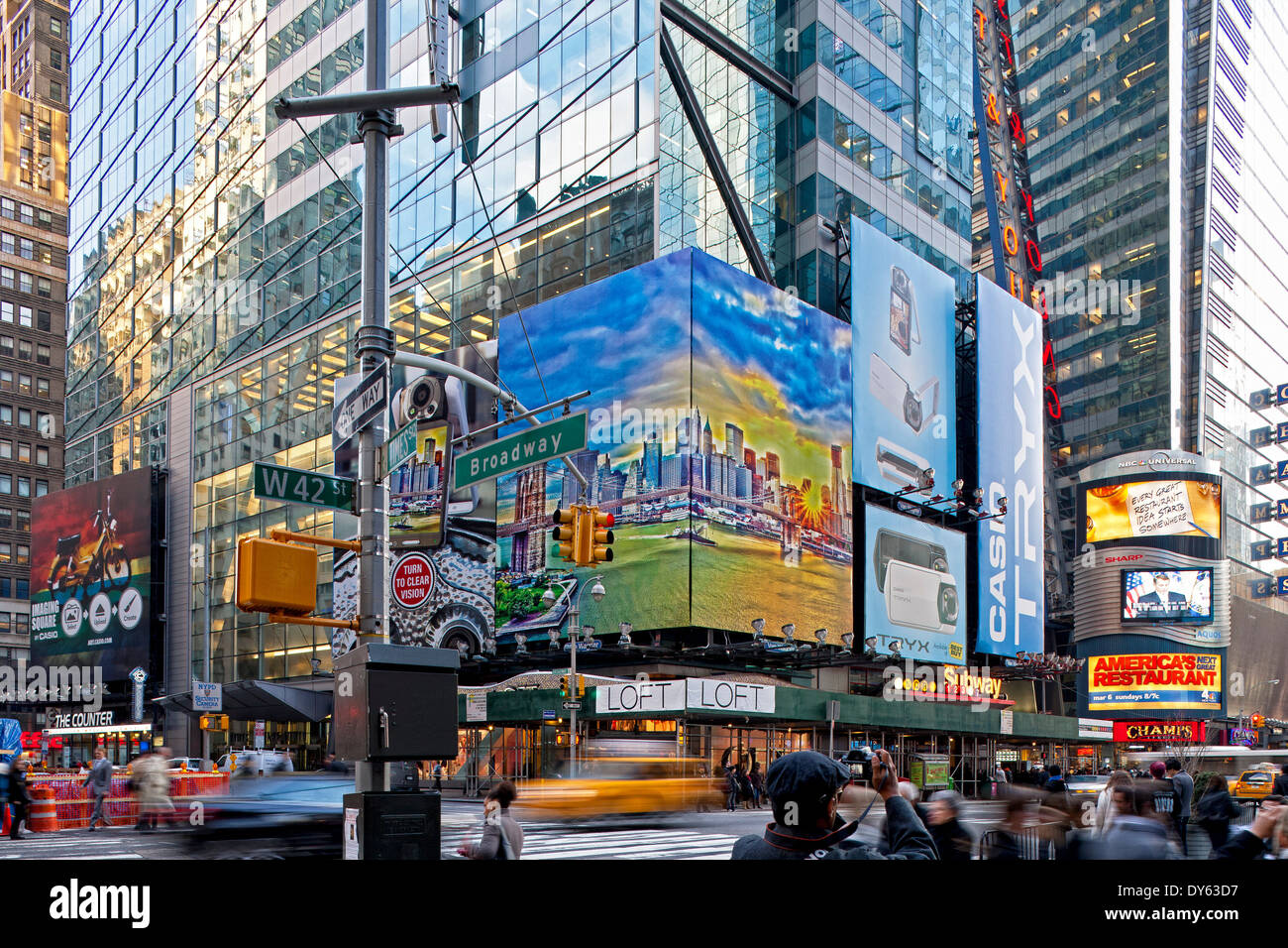 Times Square42nd StreetPort Authority Bus Terminal New
