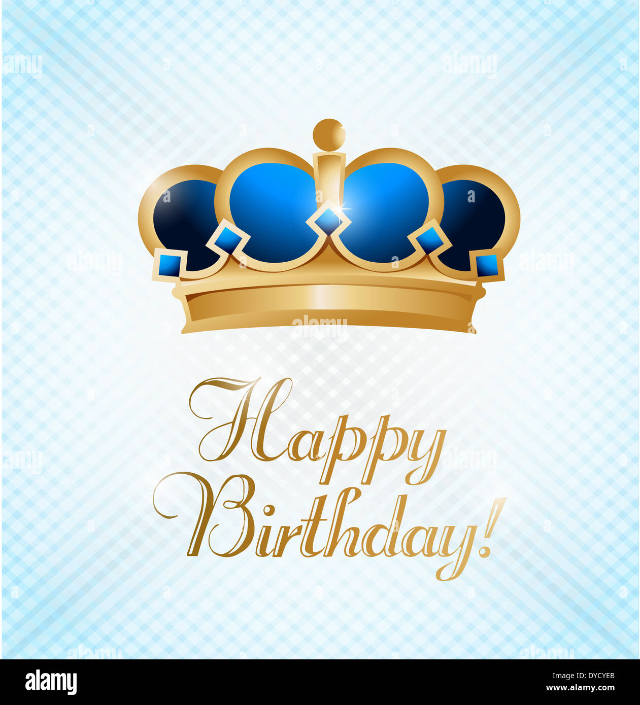 Happy Birthday King. Illustration Design Card Over A Light