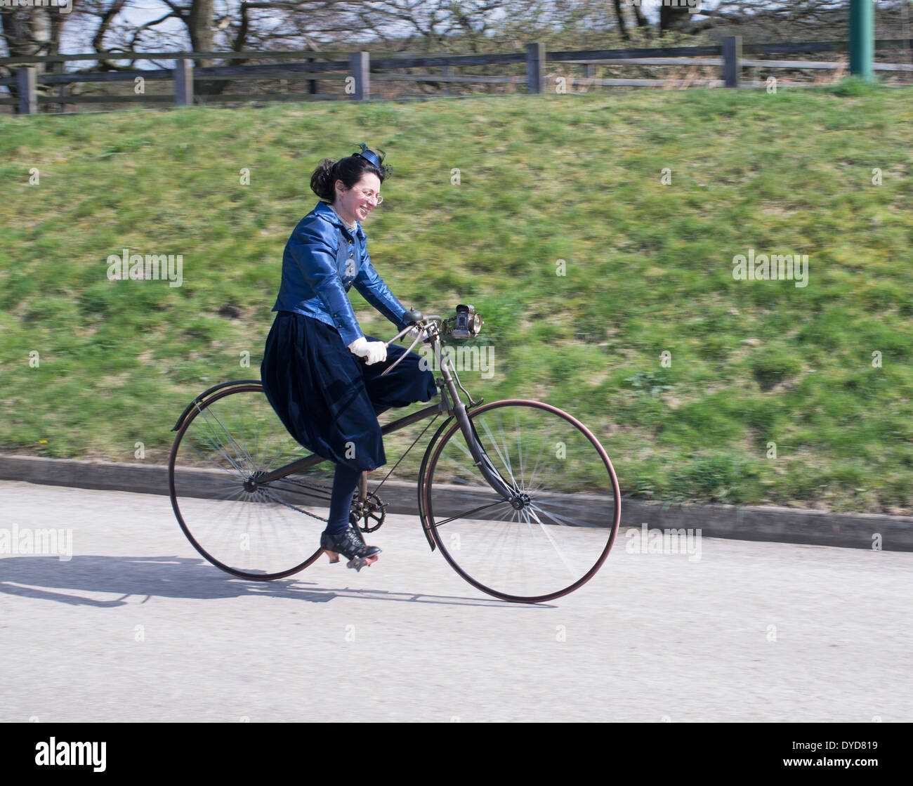 panned-shot-of-smiling-woman-dressed-in-