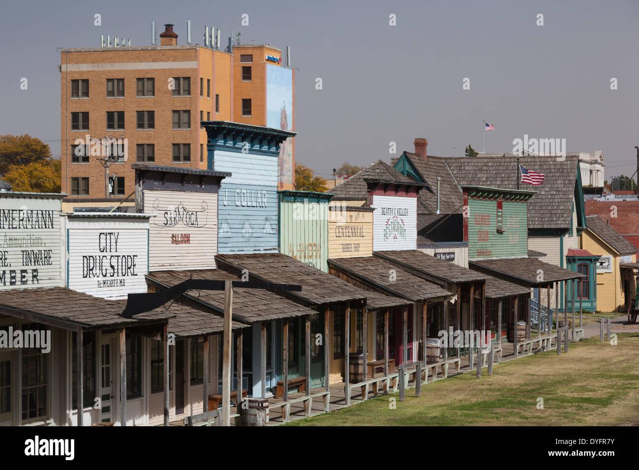 Usa kansas dodge city boot hill museum exterior stock photo royalty free image 68574351 alamy for American exteriors kc