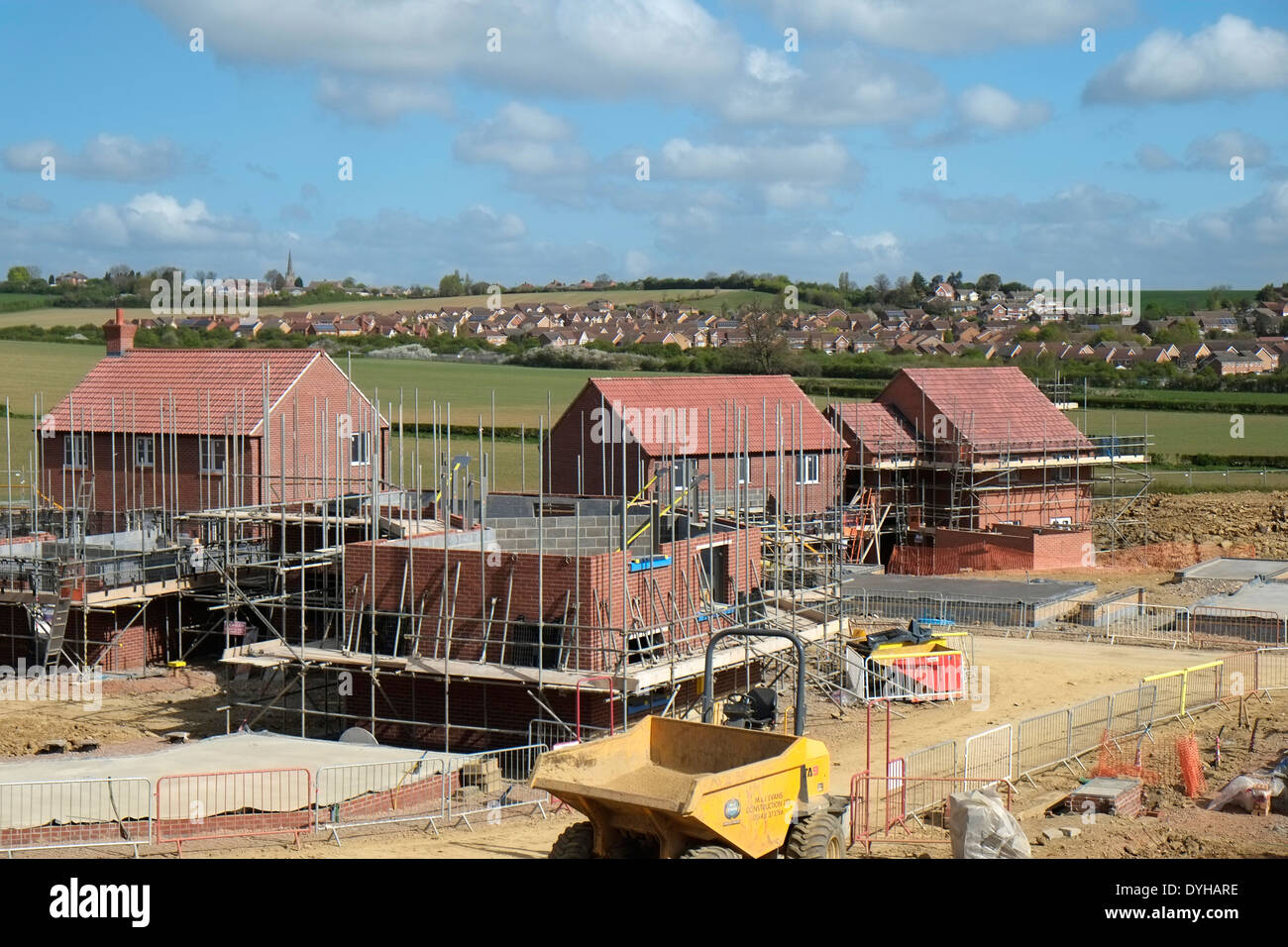 Construction Of New Housing Estate Grantham Lincolnshire