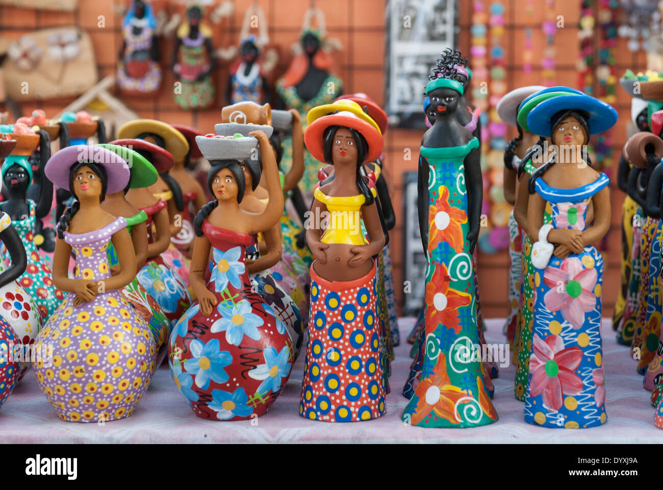 Artesanato Uniart Vinhedo ~ Olinda, Pernambuco State, Brazil Tourist souvenir colourful Stock Photo, Royalty Free Image