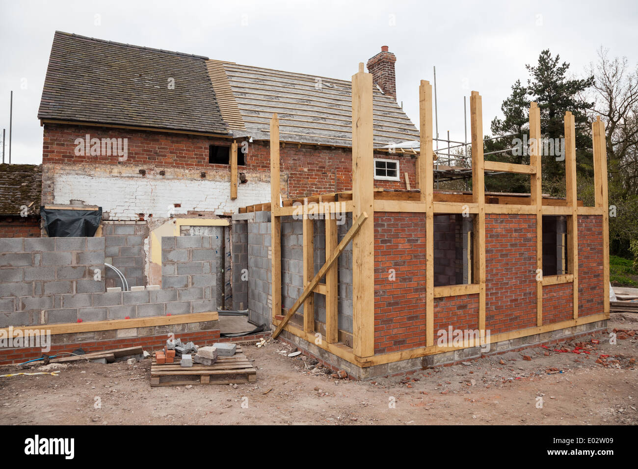 Masonry Building Framed : A timber framed extension to an existing brick built house