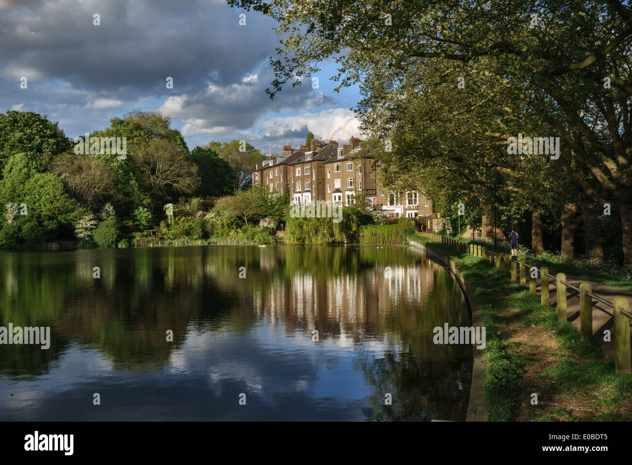 Hampstead No 2 Pond With The Houses Of South Hill Park Gardens Stock Photo Royalty Free Image