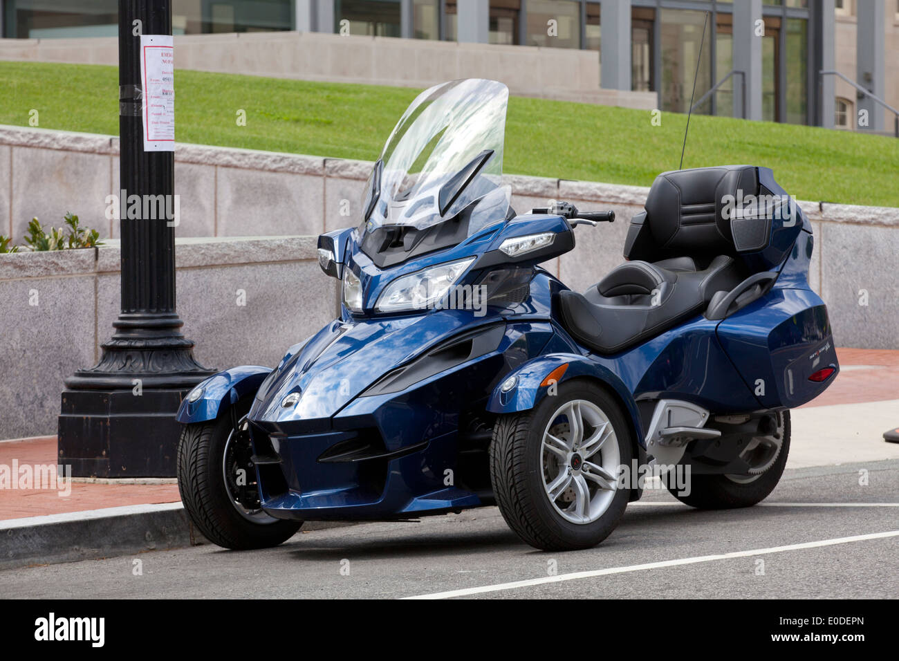 Three Wheeled Roadster >> Can-Am Spyder RT 3 wheel motorcycle - USA Stock Photo ...