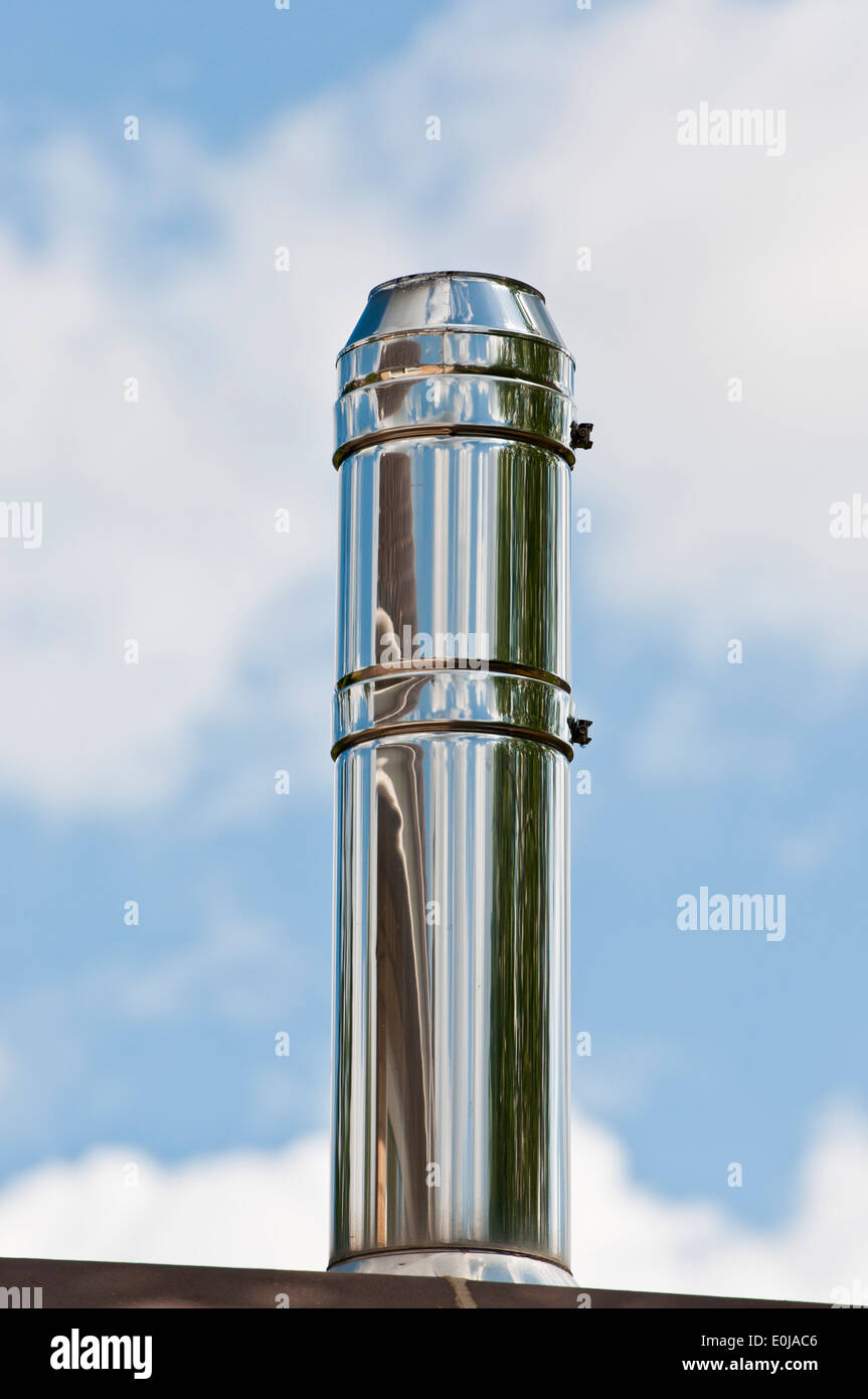 Chimney Stainless Steel Flue Silver For Wood Burning Stove