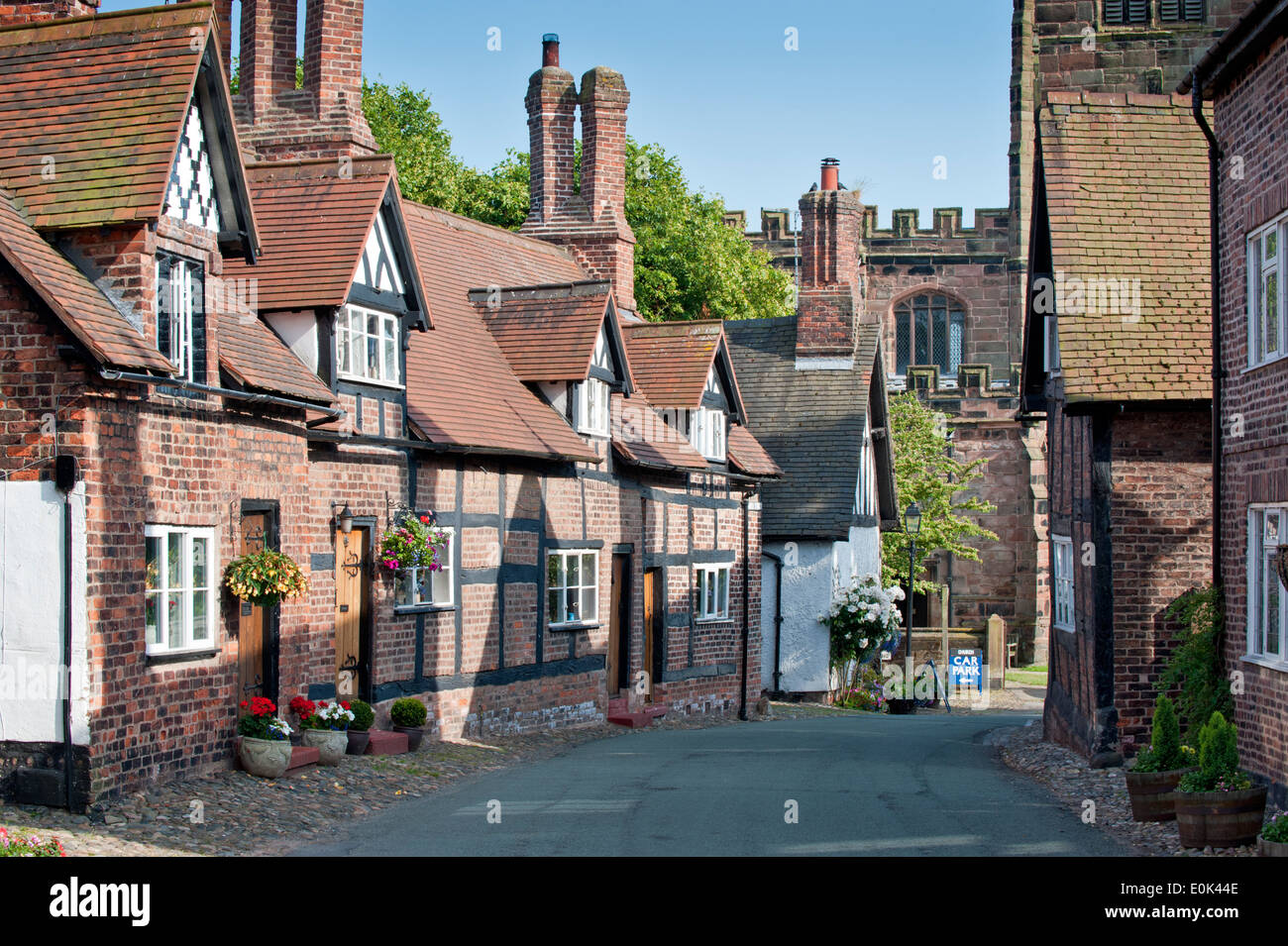 Traditional Cottages In The Village Of Great Budworth, Great Stock Photo, Royalty Free Image ... Quaint English Cottages