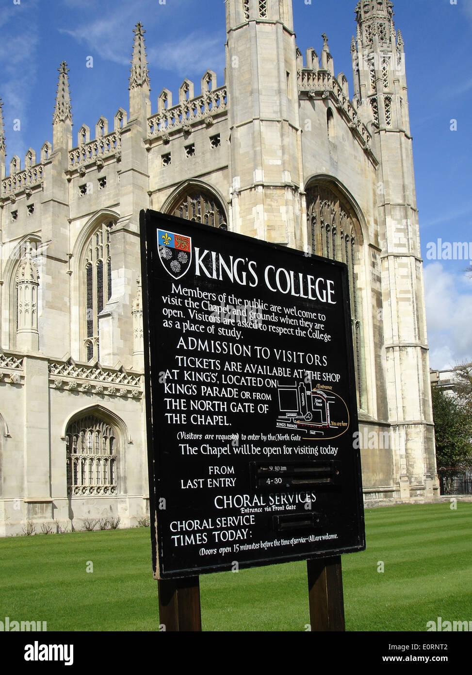 Kings College Chapel, Cambridge, UK Stock Photo