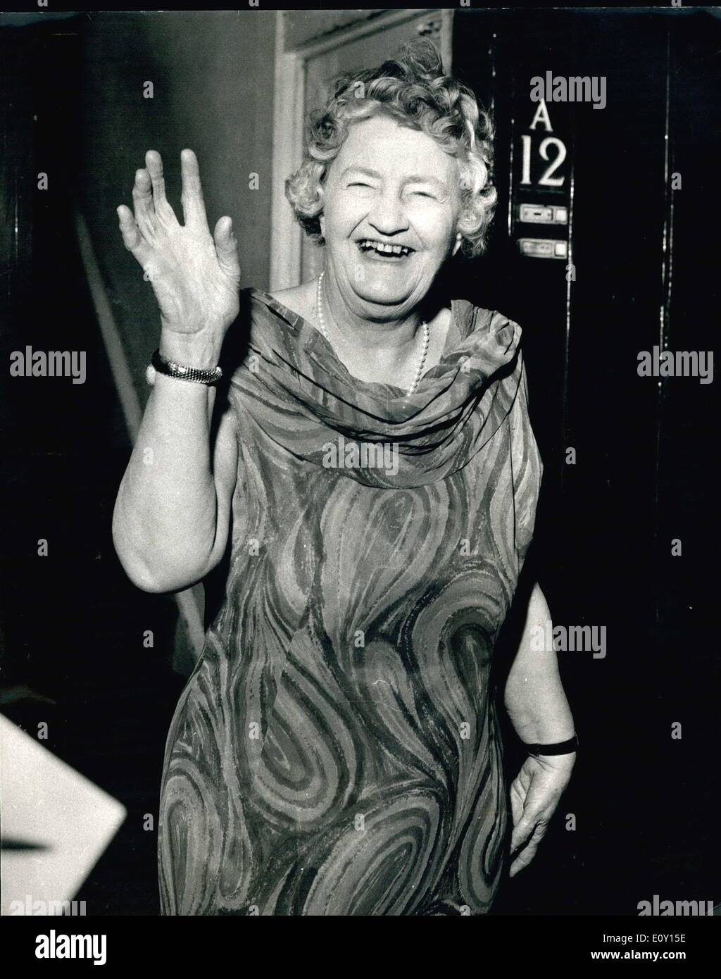 May 05, 1968 - Speaker Bans Dame Irene Ward: Dame Irene Ward, 72-year old Tory M P for Tynemouth, was suspended Stock Photo