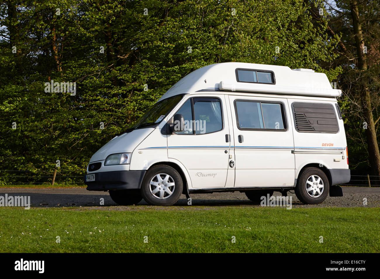 old ford transit campervan parked off the beaten track in. Black Bedroom Furniture Sets. Home Design Ideas