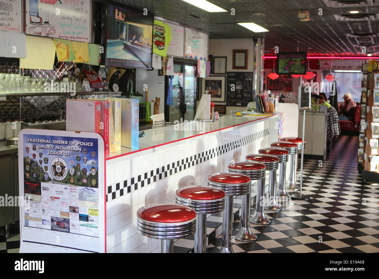 The interior of the diner a classic american diner for American classic diner