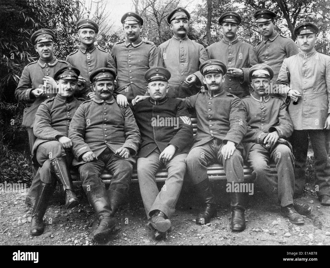 World War 1 German soldiers relaxing off duty some with ...