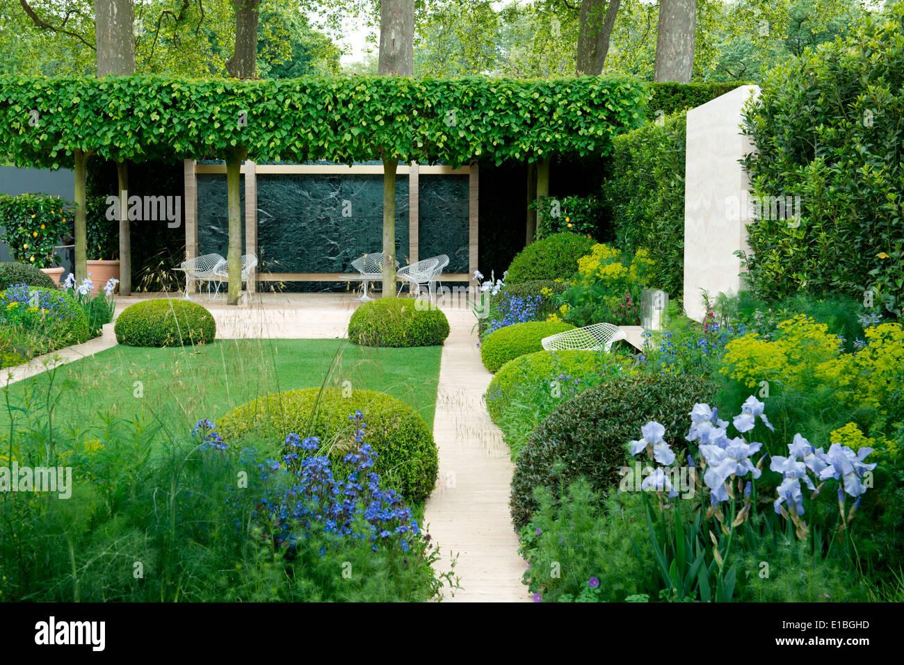 The Telegraph Garden a gold medal winner at The Chelsea Flower Show Stock Ph
