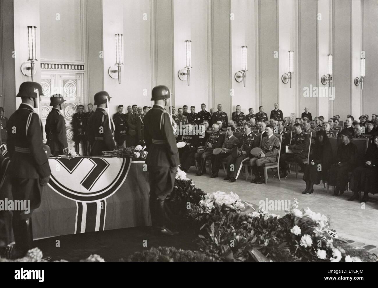 Adolf Hitler Hermann Goering And Joseph Goebbels At A