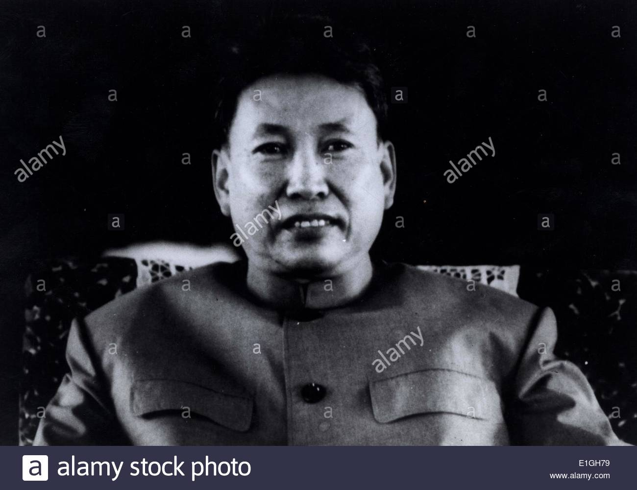 Pol Pot 1925 – 1998 born Saloth Sar he was a Cambodian communist revolutionary who led the Khmer Rouge from 1963 Stock Foto