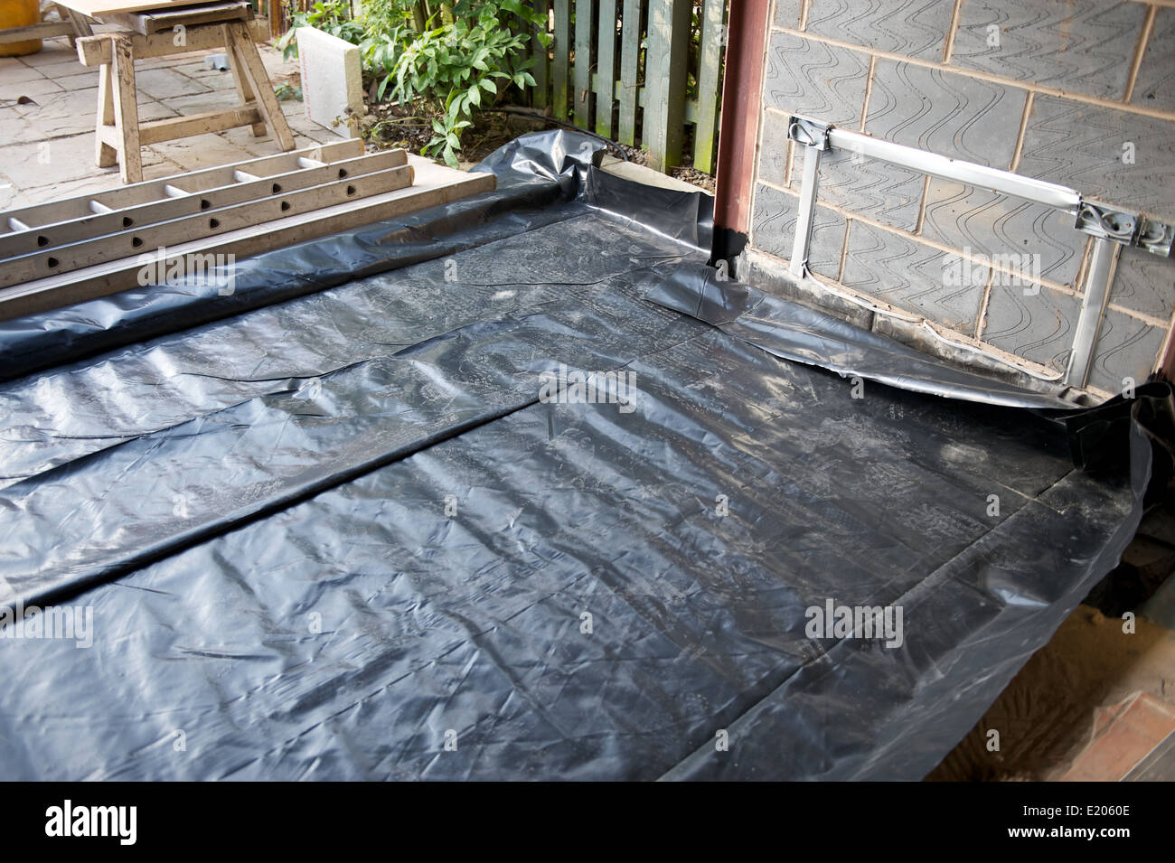 New build extension damp proof liner for concrete and for Concrete floor insulation