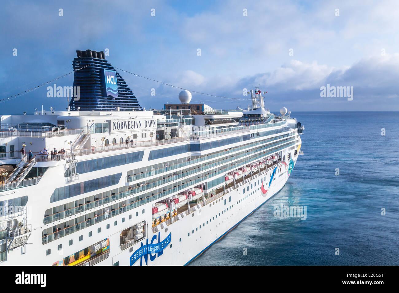 The Cruise Ship Norwegian Dawn At The Port Of Costa Maya