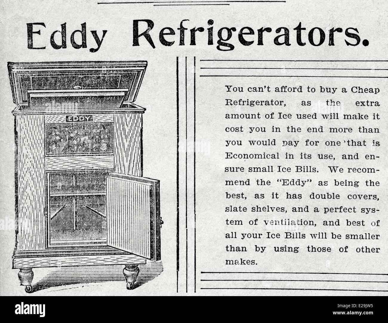 worcester evening gazette 15 jun 1898 eddy refrigerator. Black Bedroom Furniture Sets. Home Design Ideas