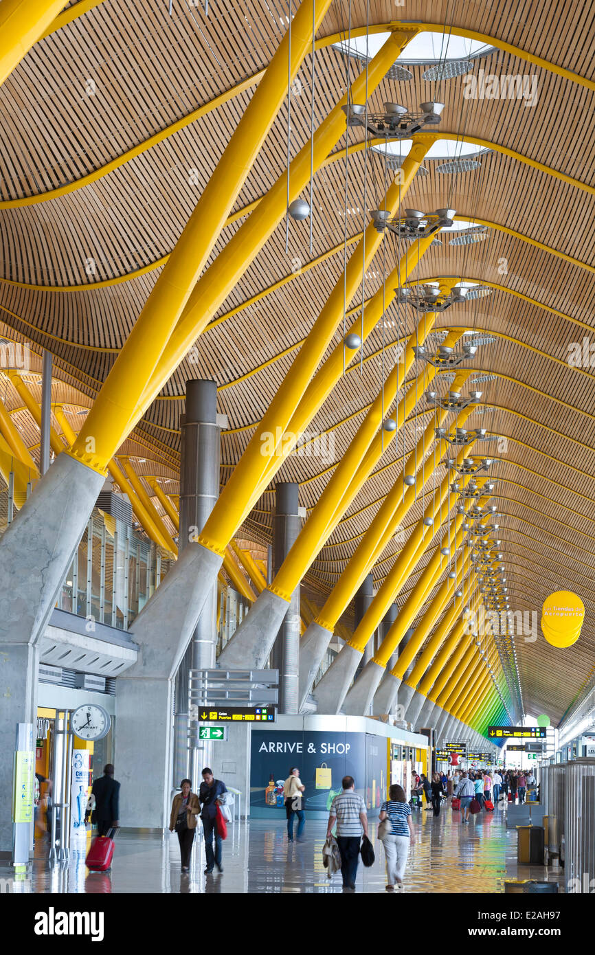 Spain, Madrid, International airport of Madrid Barajas ...