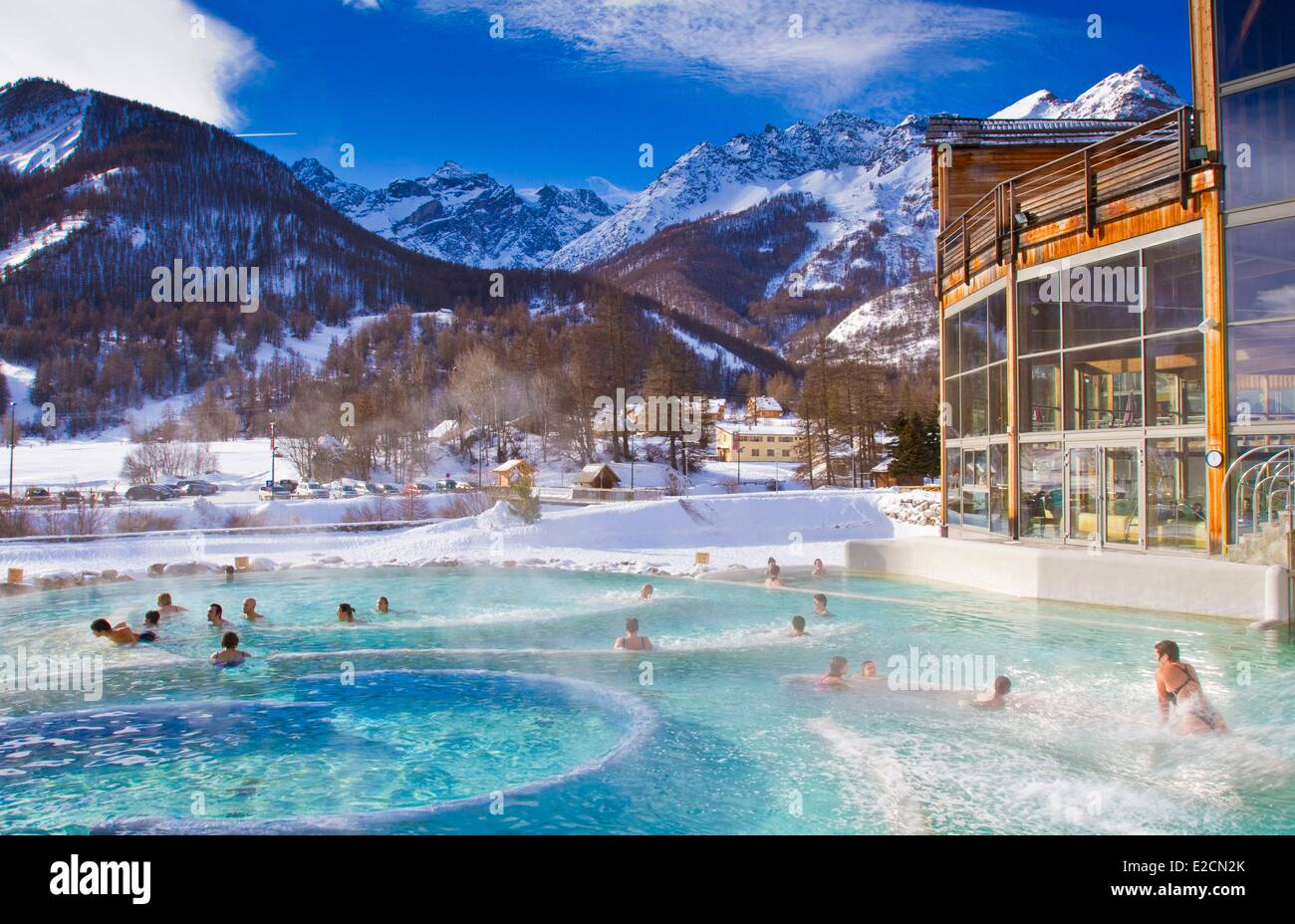 France hautes alpes serre chevalier vallee de la guisane the monetier stock photo royalty free - Les bains de lola ...