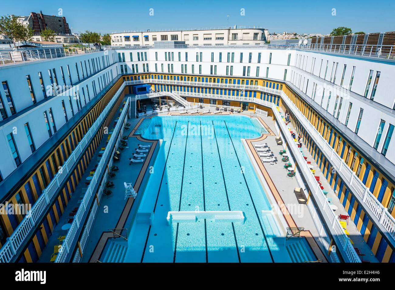 France Paris Hotel Molitor Swimming Pool Opening In May 2014 Listed Stock Photo Royalty Free
