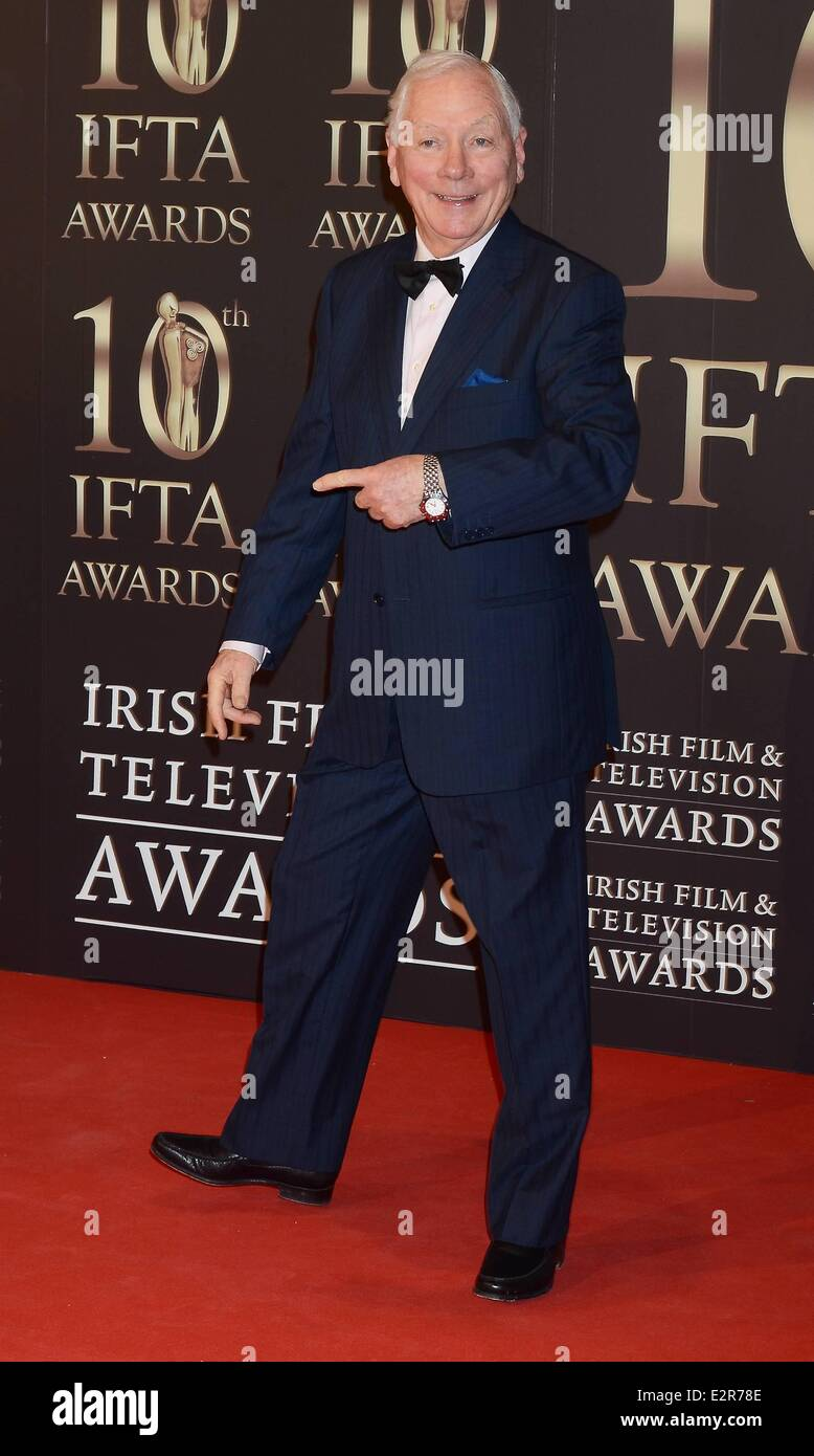 Gay Byrne was unimpressed at the Ifta awards when one rookie reporter continued to interrupt him whi